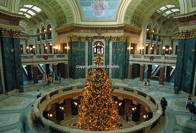 The Wisconsin State Capitol, Madison, Wisconsin, USA
