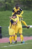 Hullbridge score their second goal and celebrate during Ilford vs Hullbridge Sports, Essex Senior League Football at Cricklefields Stadium on 13th April 2019