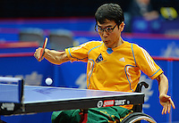 Illkeun Kwon (AUS)<br /> 2013 ITTF PTT Oceania Regional<br /> Para Table Tennis Championships<br /> AIS Arena Canberra ACT AUS<br /> Wednesday November 13th 2013<br /> © Sport the library / Jeff Crow