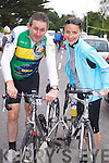 Tom Galvin and Julia Mulvihill (Moyvane) who took part in the Ring of North Kerry cycle on Saturday..