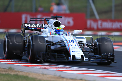 July 27th 2017, Hungaroring, Mogyoród, Hungary; Formula One Grand Prix of Hungary, free practise sessions; Felipe Massa - Williams Martini Racing FW40