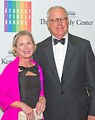 James A. Johnson and Heather Muir Kirby arrive for the formal Artist's Dinner honoring the recipients of the 2013 Kennedy Center Honors hosted by United States Secretary of State John F. Kerry at the U.S. Department of State in Washington, D.C. on Saturday, December 7, 2013. The 2013 honorees are: opera singer Martina Arroyo; pianist,  keyboardist, bandleader and composer Herbie Hancock; pianist, singer and songwriter Billy Joel; actress Shirley MacLaine; and musician and songwriter Carlos Santana.<br /> Credit: Ron Sachs / CNP