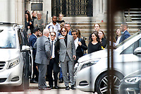 Johnny Depp leaves the Royal Courts of Justice on the sixteenth day of the trial against the Sun newspaper.<br /> 28 Jul 2020<br /> CAP/GOL<br /> ©GOL/Capital Pictures