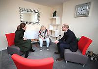 06 March 2019 - Lancashire, UK - Prince William Duke Of Cambridge and Kate Duchess of Cambridge Katherine Catherine Middleton with Lee Burrell, Development Director at Blackpool Housing Company during a visit to Kirby Road in Blackpool, which demonstrated the realities of the housing problem faced in the town. Photo Credit: ALPR/AdMedia
