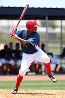 GCL Nationals Wander Ramos #20 during a game against the GCL Mets at the Washington Nationals Minor League Complex on June 20, 2011 in Melbourne, Florida.  The Nationals defeated the Mets 5-3.  (Mike Janes/Four Seam Images)