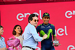 Nairo Quintana (COL) Movistar Team finishes 2nd overall in the general classification at the end of Stage 21, the final stage of the 100th edition of the Giro d'Italia 2017, an individual time trial running 29.3km from Monza Autodrome to Milan Duomo, Italy. 28th May 2017.<br /> Picture: LaPresse/Fabio Ferrari | Cyclefile<br /> <br /> <br /> All photos usage must carry mandatory copyright credit (&copy; Cyclefile | LaPresse/Fabio Ferrari)