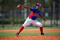Emmanuel Nunez (11) during the Dominican Prospect League Elite Florida Event at Pompano Beach Baseball Park on October 14, 2019 in Pompano beach, Florida.  Emmanuel Nunez (11).  (Mike Janes/Four Seam Images)
