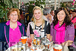 Attending the paint it pink coffee morning and Fashion Show at Ballyseedy Garden Centre  for the Irish Cancer Society on Friday were  l-r  Bridget O'Connell, Emma Lowham and Annette Lowham. Bridget was also celebrating her birthday