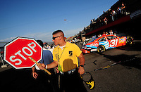 Aug 30, 2008; Fontana, CA, USA; NASCAR Sprint Cup Series driver Jeff Burton during practice for the Pepsi 500 at Auto Club Speedway. Mandatory Credit: Mark J. Rebilas-