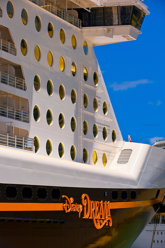 The new Disney Dream cruise ship, Port Canaveral, Florida USA