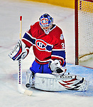21 December 2008: Montreal Canadiens' goaltender Carey Price makes a save during the first period against the Carolina Hurricanes at the Bell Centre in Montreal, Quebec, Canada. The Hurricanes defeated the Canadiens 3-2 in overtime. ***** Editorial Sales Only ***** Mandatory Photo Credit: Ed Wolfstein Photo