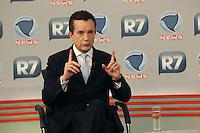 SAO PAULO, 09 DE JULHO de 2012. DEBATE  NA RECORD NEWS. O candidato a prefeitura de São Paulo, Celso Russomano,  entrevista no canal Record News. FOTO: ADRIANA SPACA : BRAZIL PHOTO PRESS