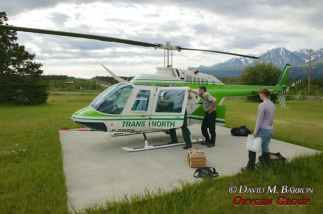 Loading Helicopter With Supplies