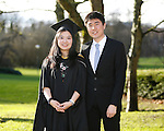 REPRO FREE<br /> 20/01/2015<br /> Yuan Meng from Castletroy, Limerick who graduated with Masters in Business Management as the University of Limerick continues three days of Winter conferring ceremonies which will see 1831 students conferring, including 74 PhDs. <br /> Pictured here with boyfriend Han Yi Ming.<br /> UL President, Professor Don Barry highlighted the increasing growth in demand for UL graduates by employers and the institution&rsquo;s position as Sunday Times University of the Year. <br /> Picture: Don Moloney / Press 22