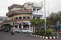 Bali, Indonesia.  Street Scene, Local Architecture, Klungkung, Semarapura.