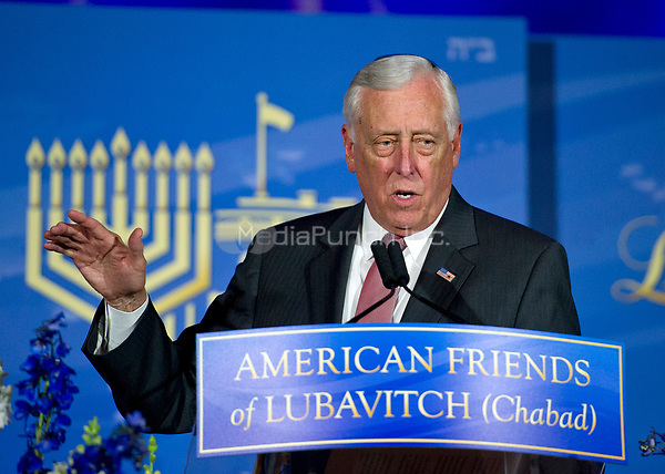 United States House Minority Whip Steny Hoyer (Democrat of Maryland) makes remarks introducing The Speaker of the United States House of Representatives Paul D. Ryan (Republican of Wisconsin) prior to the Speaker receiving the 2017 Lamplighter Award from Rabbi Levi Shemtov, Executive Vice President of American Friends of Lubavitch (Chabad) at the Mellon Auditorium in Washington, DC on Tuesday, June 6, 2017.<br /> Credit: Ron Sachs /CNP/MediaPunch