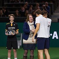 Rotterdam, The Netherlands, 18 Februari, 2018, ABNAMRO World Tennis Tournament, Ahoy, Doubles final, winners: Pierre-Hugues Herbert (FRA) / Nicolas Mahut (FRA), <br />
