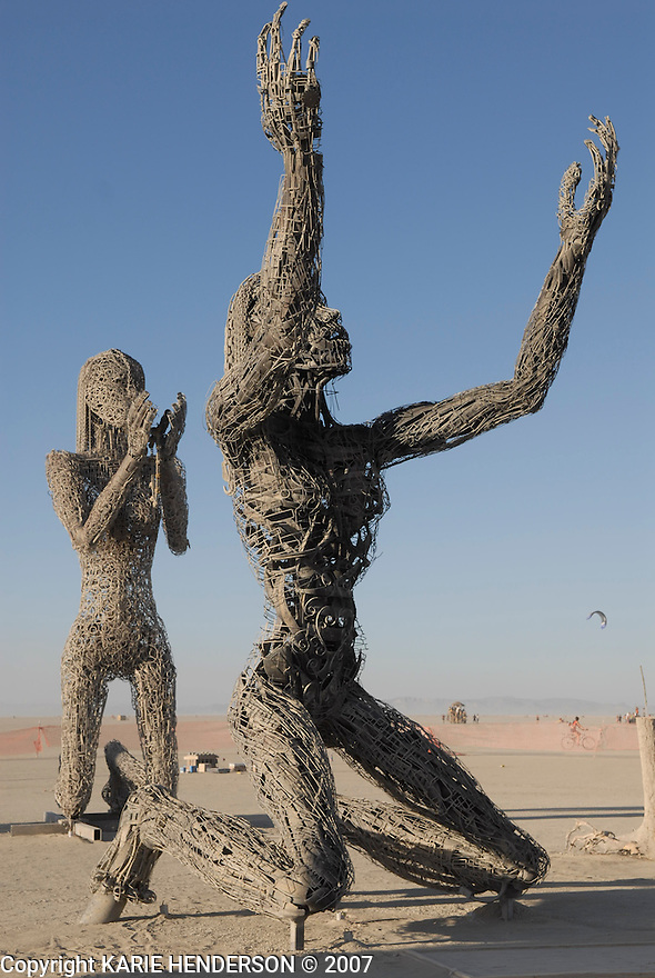 Crude Awakening, an art piece by Karen Cusolito, Dan Das Mann and Mark Perez for the 2007 Burning Man annual event held in Black Rock Desert, Nevada. Photo by, Karie Henderson © 2007