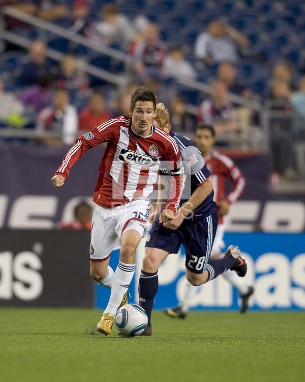 Chivas USA midfielder Sacha Kljestan (16) on the attack. Chivas USA defeated the New England Revolution, 4-0, at Gillette Stadium on May 5, 2010.