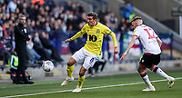 Bolton Wanderers' Craig Noone competing with Blackburn Rovers' Joe Rothwell<br /> <br /> Photographer Andrew Kearns/CameraSport<br /> <br /> The EFL Sky Bet Championship - Bolton Wanderers v Blackburn Rovers - Saturday 6th October 2018 - University of Bolton Stadium - Bolton<br /> <br /> World Copyright © 2018 CameraSport. All rights reserved. 43 Linden Ave. Countesthorpe. Leicester. England. LE8 5PG - Tel: +44 (0) 116 277 4147 - admin@camerasport.com - www.camerasport.com