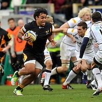 High Wycombe, England. Billy Vunipola of London Wasps  during the Aviva Premiership match between London Wasps and Sale Sharks at Adams Park on December 23. 2012 in High Wycombe, England.