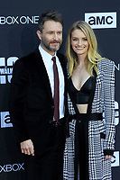 """LOS ANGELES - OCT 22:  Chris Hardwick, Lydia Hearst at the """"The Walking Dead"""" 100th Episode Celebration at the Greek Theater on October 22, 2017 in Los Angeles, CA"""