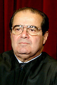 Associate Justice of the United States Supreme Court Antonin G. Scalia poses for a photo during a photo-op at the U.S. Supreme Court in Washington, D.C. on December 5, 2003.  Scalia was appointed in 1986 by U.S. President Ronald Reagan.<br /> Credit: Mark Wilson / Pool via CNP