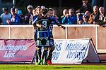 Uppsala 2014-06-26 Fotboll Superettan IK Sirius - IFK V&auml;rnamo :  <br /> Sirius Stefan Silva jublar med lagkamrater efter sitt 3-0 m&aring;l<br /> (Foto: Kenta J&ouml;nsson) Nyckelord:  Superettan Sirius IKS Studenternas IFK V&auml;rnamo jubel gl&auml;dje lycka glad happy