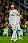Sergio Ramos of Real Madrid during La Liga match between Real Madrid and Real Betis Balompie at Santiago Bernabeu Stadium in Madrid, Spain. November 02, 2019. (ALTERPHOTOS/A. Perez Meca)