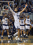 Nevada forward Cody Martin (11)  celebrates after making a three point shot against Akron in the second half of an NCAA college basketball game in Reno, Nev., Saturday, Dec. 22, 2018. (AP Photo/Tom R. Smedes)