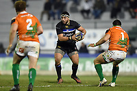Lucas Noguera Paz of Bath Rugby in possession. European Rugby Champions Cup match, between Benetton Rugby and Bath Rugby on January 20, 2018 at the Municipal Stadium of Monigo in Treviso, Italy. Photo by: Patrick Khachfe / Onside Images