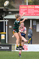 The Wyong Roos play Erina Eagles in Round 9 of the Ladies League Tag Central Coast Rugby League Division at Morry Breen Oval on 16th of June, 2019 in Kanwal, NSW Australia. (Photo by Giselle Barkley/LookPro)