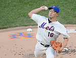 Daisuke Matsuzaka (Mets),<br /> AUGUST 23, 2013 - MLB :<br /> Daisuke Matsuzaka of the New York Mets pitches during the Major League Baseball game against the Detroit Tigers at Citi Field in Flushing, New York, United States. (Photo by AFLO)