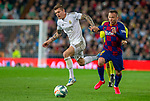 FC Barcelona's midfield Arthur Melo and Real Madrid CF's Toni Kroos competes for the ball during La Liga match. Mar 01, 2020. (ALTERPHOTOS/Manu R.B.)