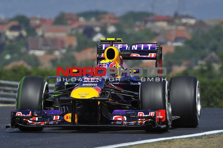 25. - 28.07.2013, Hungaroring, Budapest, HUN, F1, Grosser Preis von Ungarn, Hungaroring, im Bild  Mark Webber (AUS), Red Bull Racing <br />  Foto &not;&copy; nph / Mathis