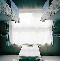 Train compartment, Silk Route, Turpan, Xinjiang Province, China.