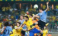 BELO HORIZONTE, MG, 26.06-2013 - COPA DAS CONFEDERAÇÕES - BRASIL X URUGUAI - Fred (9) do Brasil  durante partida entre  do Brasil x Uruguai em jogo pela semi-finais da Copa das Confederações do Estádio do Mineirão, em Belo Horizonte (MG), nesta quarta-feira, 26 .(Foto: Vanessa Carvalho / Brazil Photo Press)