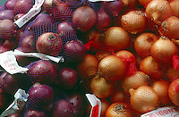 FRUITS-VEGETABLES: Red And Yellow Onions