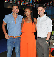 Peter Andre, Yvonne Grundy and John Hasler at the &quot;Thomas &amp; Friends: Big World! Big Adventures!&quot; UK film premiere, Vue West End, Leicester Square, London, England, UK, on Saturday 07 July 2018.<br /> CAP/CAN<br /> &copy;CAN/Capital Pictures