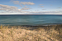 Lake Superior wilderness beach with fall color in Michigan's Upper Peninsula.