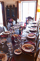 Wine tasting. Lunch table. J Portugal Ramos Vinhos, Estremoz, Alentejo, Portugal