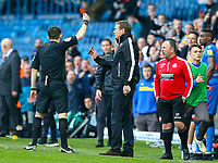 Referee Tony Harrington sends Bolton Wanderers manager Phil Parkinson to the stands<br /> <br /> Photographer Alex Dodd/CameraSport<br /> <br /> The EFL Sky Bet Championship - Leeds United v Bolton Wanderers - Saturday 23rd February 2019 - Elland Road - Leeds<br /> <br /> World Copyright © 2019 CameraSport. All rights reserved. 43 Linden Ave. Countesthorpe. Leicester. England. LE8 5PG - Tel: +44 (0) 116 277 4147 - admin@camerasport.com - www.camerasport.com