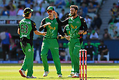 10th February 2019, Melbourne Cricket Ground, Melbourne, Australia; Australian Big Bash Cricket, Melbourne Stars versus Sydney Sixers; Adam Zampa and  Glenn Maxwell of the Melbourne Stars share a high five during a wicket celebration