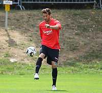 David Abraham (Eintracht Frankfurt) - 28.08.2018: Eintracht Frankfurt Training, Commerzbank Arena, DISCLAIMER: DFL regulations prohibit any use of photographs as image sequences and/or quasi-video.