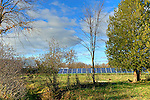Solar panel array in rural setting