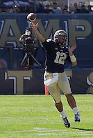 Pitt quarterback Tino Sunseri. The Louisville Cardinals defeated the Pitt Panthers 45-35 at Heinz Field, Pittsburgh PA on October 13, 2012.