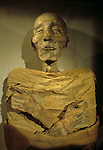Mummy of Merenptah, son of Ramses the Great, New Kingdom.