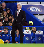 Stoke City Manager Mark Hughes during the premier league match at Stamford Bridge Stadium, London. Picture date 30th December 2017. Picture credit should read: Robin Parker/Sportimage