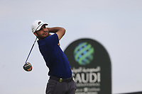 Shubhankar Sharma (IND) on the 2nd tee during the 2nd round of  the Saudi International powered by Softbank Investment Advisers, Royal Greens G&CC, King Abdullah Economic City,  Saudi Arabia. 31/01/2020<br /> Picture: Golffile | Fran Caffrey<br /> <br /> <br /> All photo usage must carry mandatory copyright credit (© Golffile | Fran Caffrey)