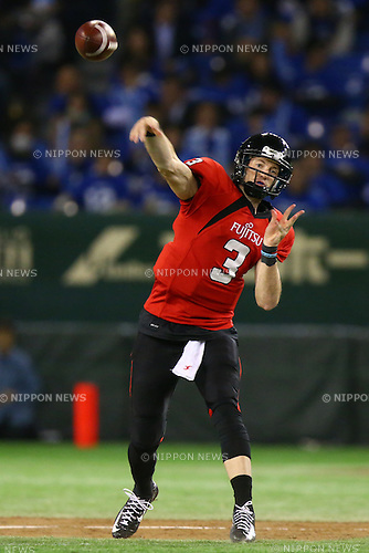 Colby Cameron (),<br /> DECEMBER 14, 2015 - American Football : <br /> The 29th Japan American Football Championship<br /> &quot;Japan X Bowl 29&quot; <br /> between Panasonic Impulse 24-21 Fujitsu Frontiers <br /> at Tokyo Dome, Tokyo, Japan. <br /> (Photo by Shingo Ito/AFLO SPORT)